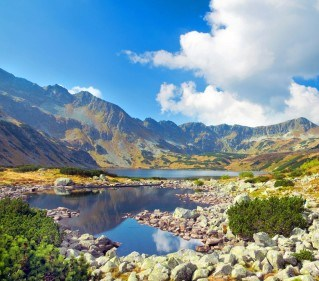 Lake in Tatra Mountain - travel to Poland
