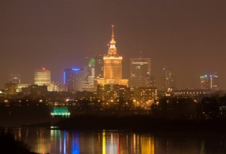 View of the Palace of Culture in Warsaw